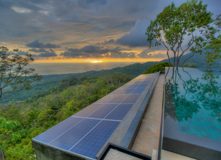 Costa Rica Voyage Kura Design Villas piscine fin de journée