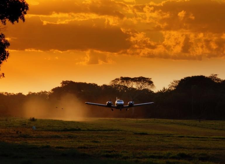 Brésil Voyage Pantanal Barranco Alto arrivée en avionette