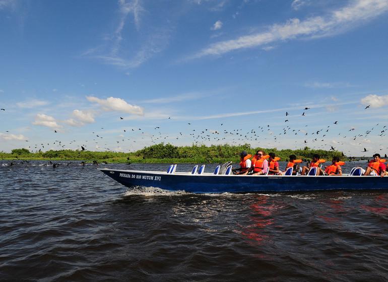 Brésil Voyage Pantanal Rio Mutum excursion bateau à moteur
