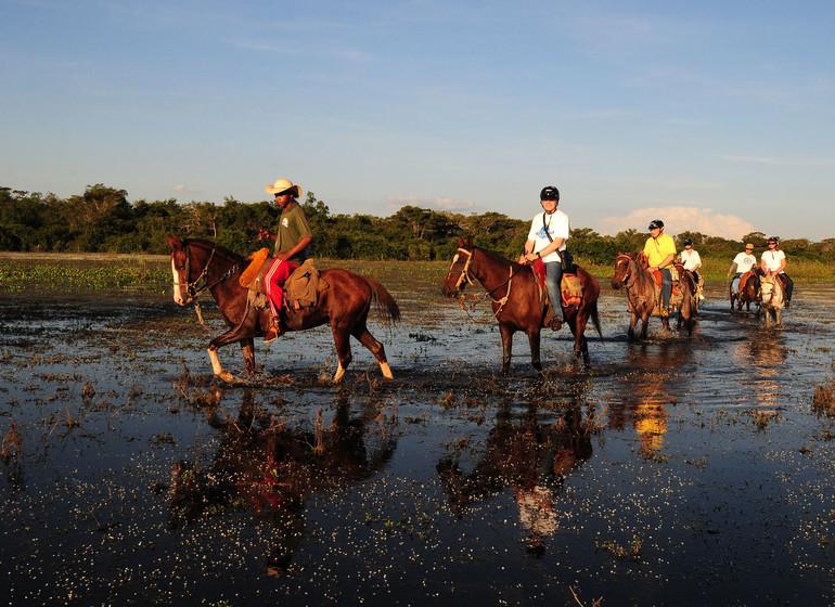 Brésil Voyage Pantanal Rio Mutum excursion à cheval