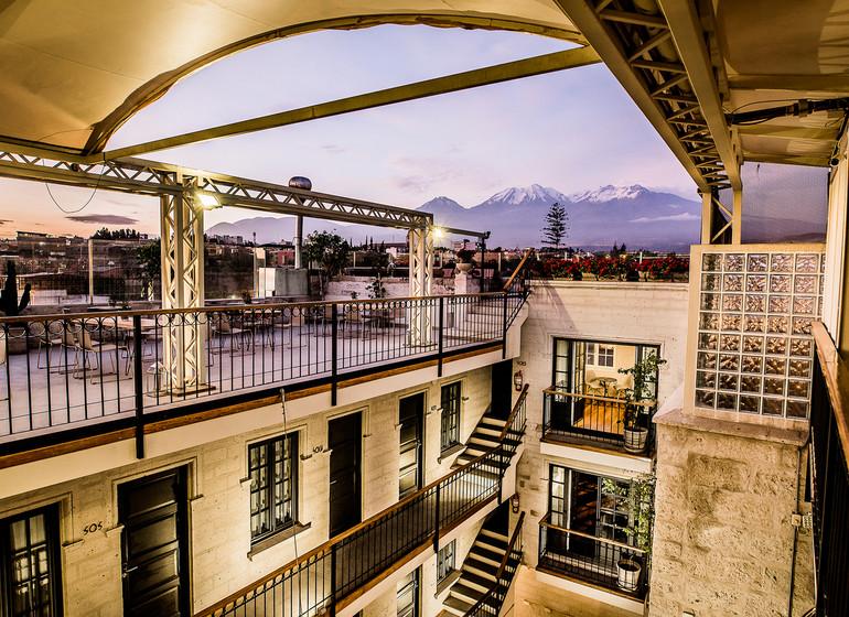 Pérou Voyage Arequipa Palla Boutique patio + terrasse sur le toit