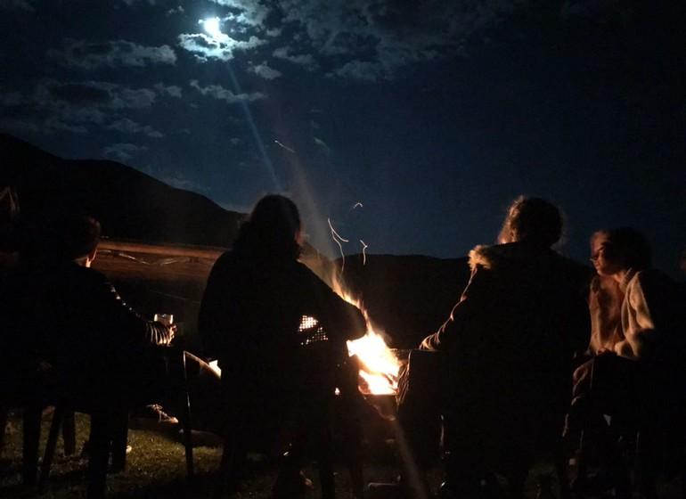 Argentine Voyage Mendoza Rancho e'Cuero autour du feu