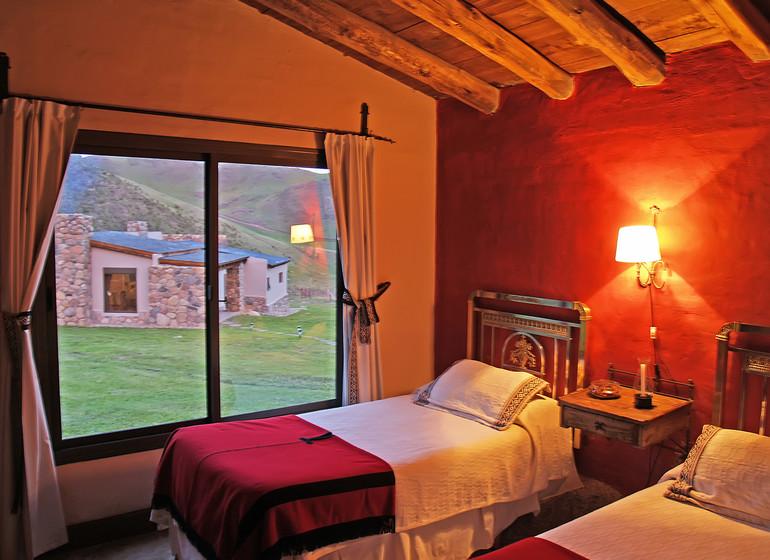Argentine Voyage Mendoza Rancho e'Cuero chambre twin