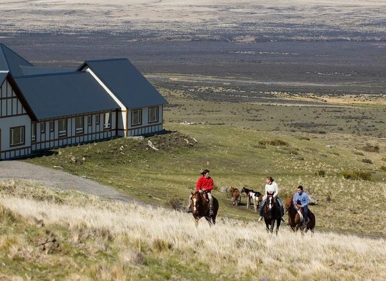 Argentine Patagonie El Calafate Eolo Lodge à cheval