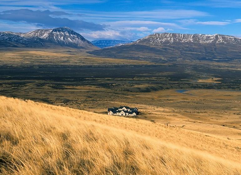 Argentine Patagonie El Calafate Eolo Lodge vue de loin