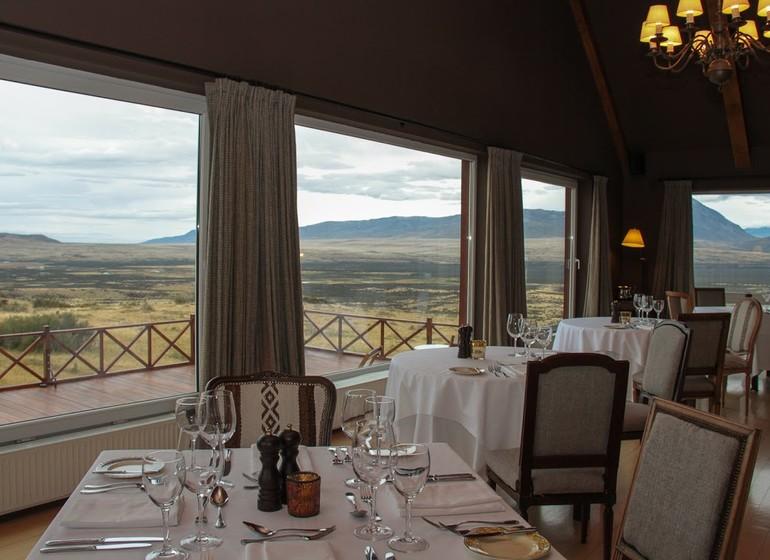 Argentine Patagonie El Calafate Eolo Lodge restaurant