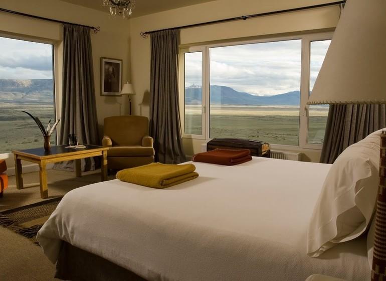 Argentine Patagonie El Calafate Eolo Lodge corner room