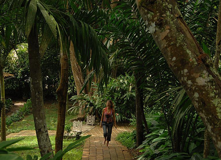 Brésil Voyage Trancoso Pousada Etnia dans le jardin