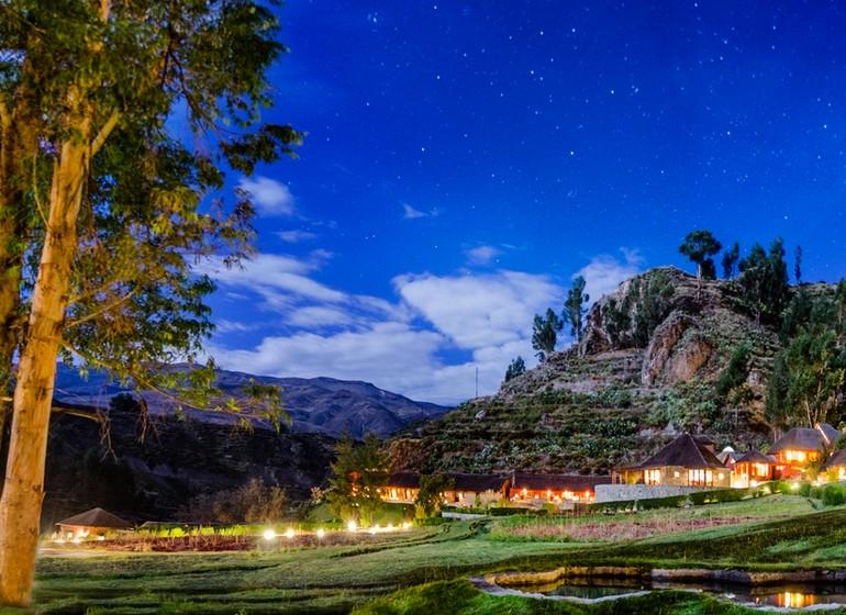 Pérou Voyage Colca Lodge panoramique ambiance début de soirée