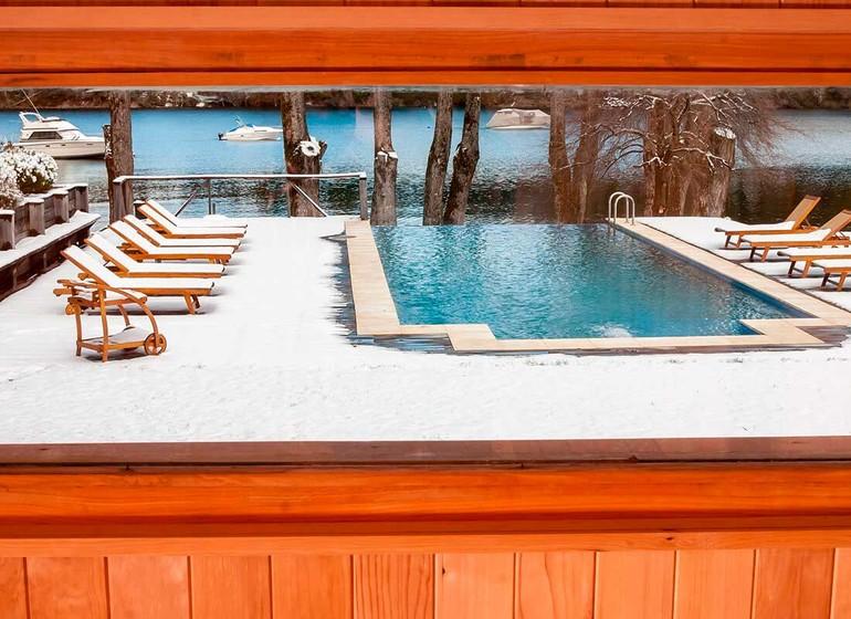 Argentine Voyage Lago Huapi Hosteria Escondida piscine