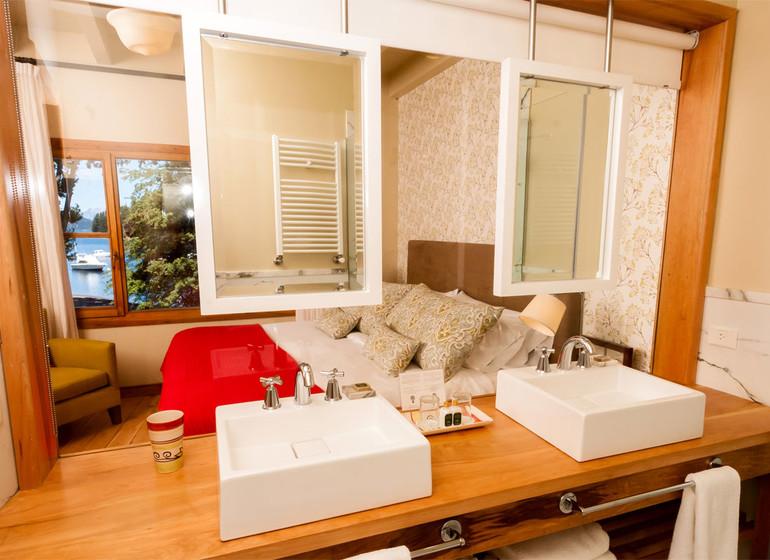 Argentine Voyage Lago Huapi Hosteria Escondida salle de bains