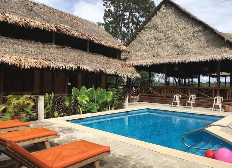 Pérou Voyage Amazonie Nord Heliconia River Lodge piscine