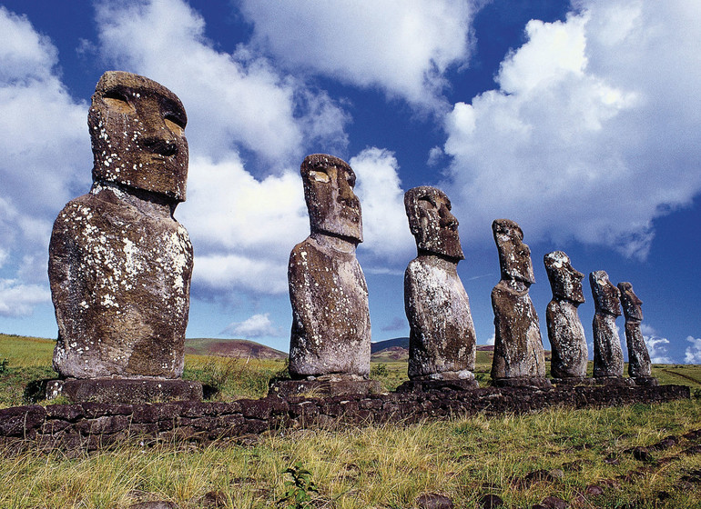 Chili Voyage Île de Pâques sculptures