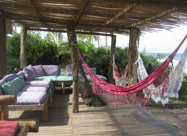 Brésil Voyage Marau Butterfly House terrasse