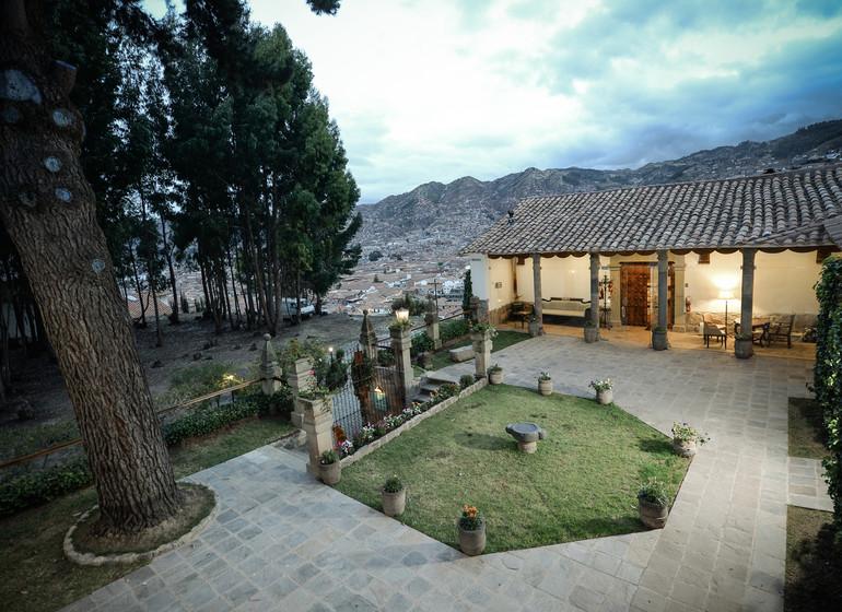 Pérou Voyage Cusco Palacio Manco Capac jardin & véranda
