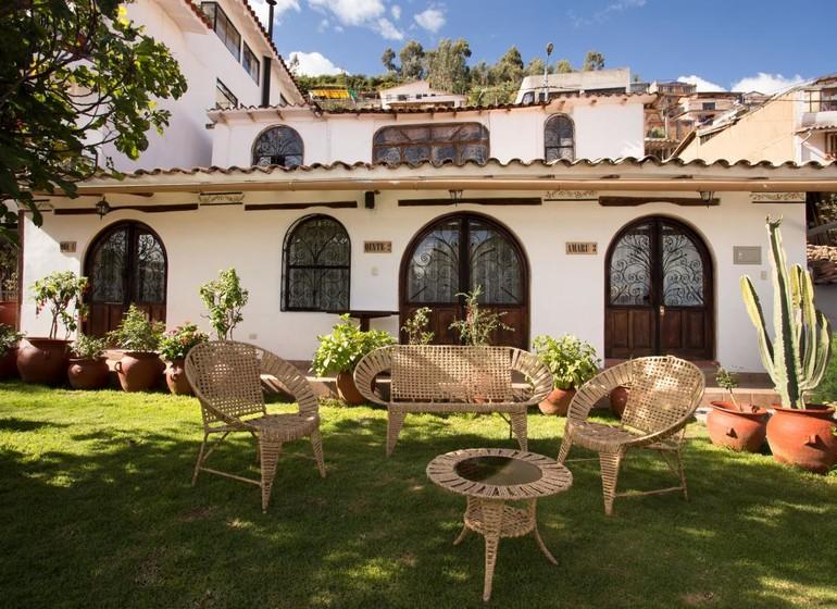 Pérou Voyage Cusco Hotel Encantada façade avec jardin