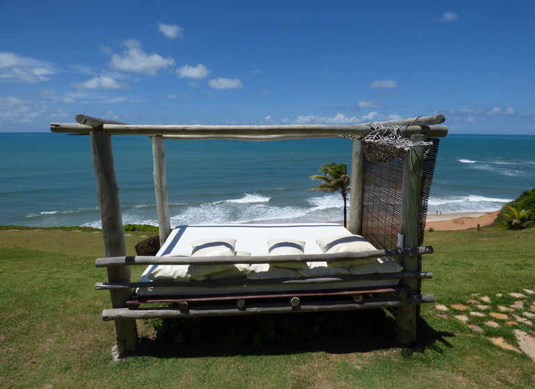 Brésil Voyage Sibauma Pipa Kilombo vue depuis le jardi