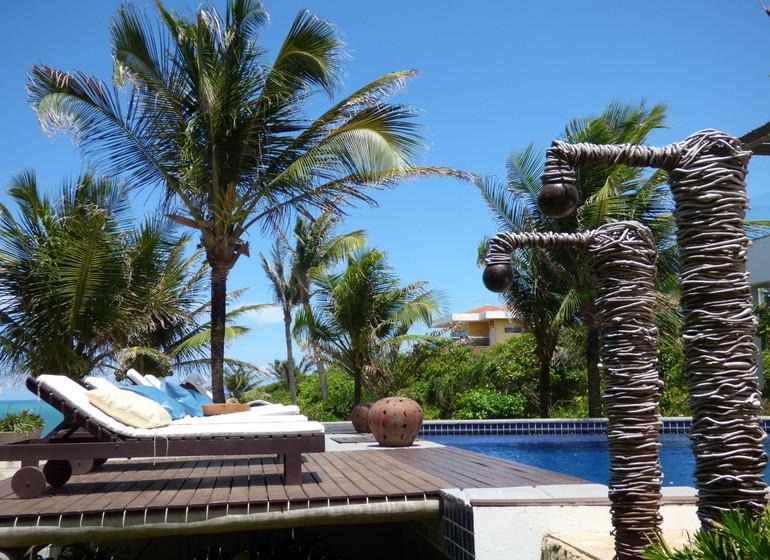Brésil Voyage Sibauma Pipa Kilombo pool area