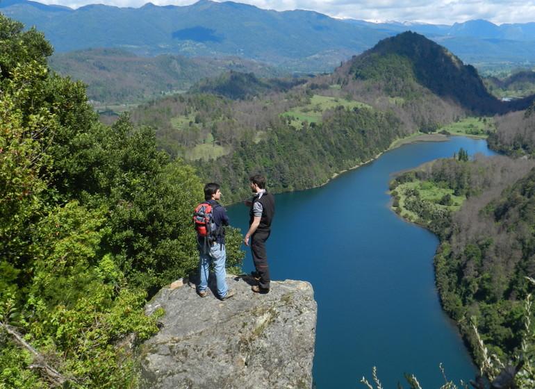 Chili Voyage Futangue Parc randonnée avec vue sur lagune