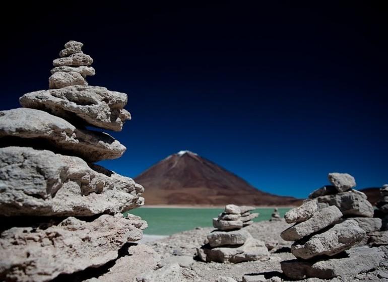 Bolivie voyage laguna verde avec Licancabur