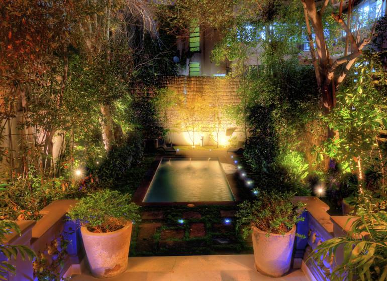 Chili Voyage Santiago Casa Bueras jardin avec piscine