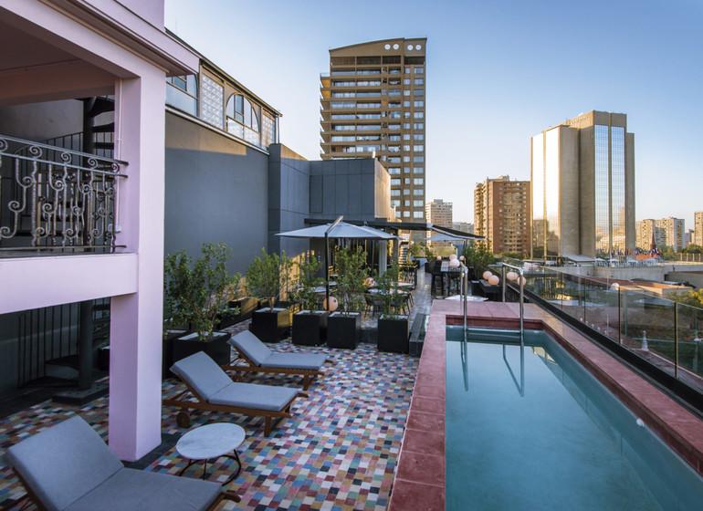 Chili Voyage Santiago Lastarria Luciano K roof top avec piscine