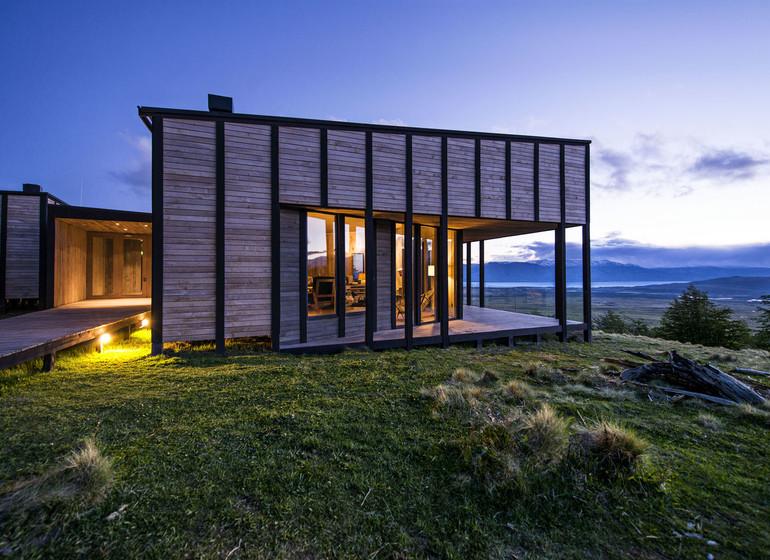 Chili Voyage Awasi Patagonia bungalows extérieur de près