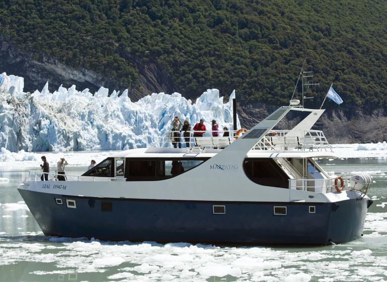 Argentine Voyage Marpatag en face du glacier