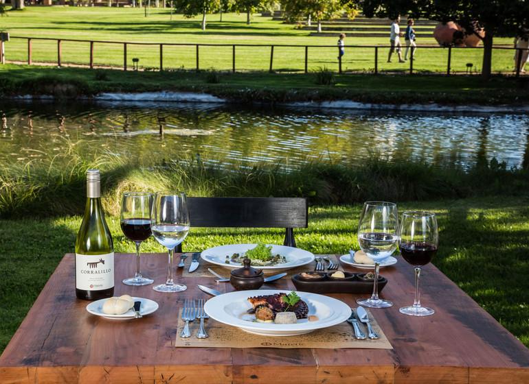 Chili Voyage Casona Matetic déjeuner jardin