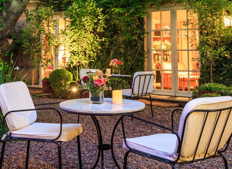 Chili Voyage Santiago Le Rêve patio jardin