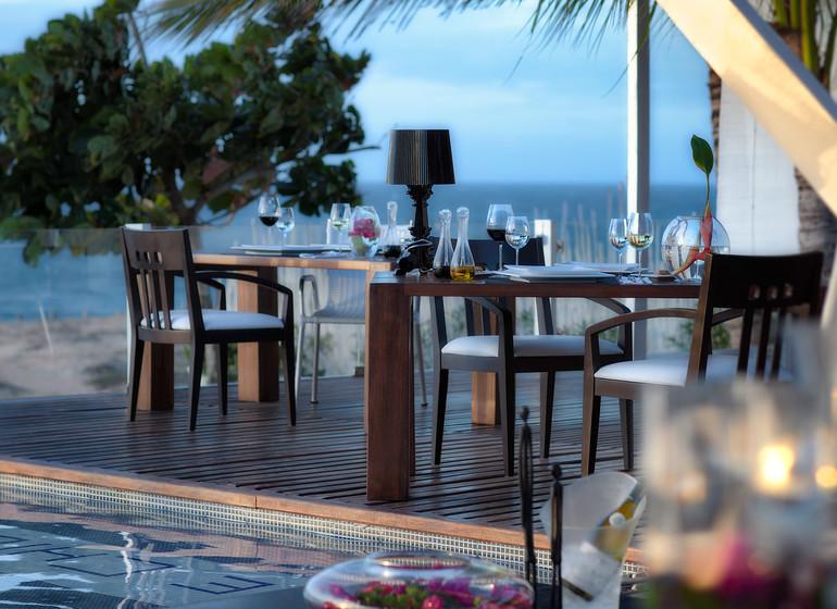 Brésil Voyage Jeri Chili Beach restaurant sur terrasse