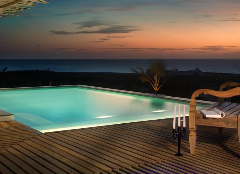 Brésil Voyage Jeri Chili Beach piscine le soir