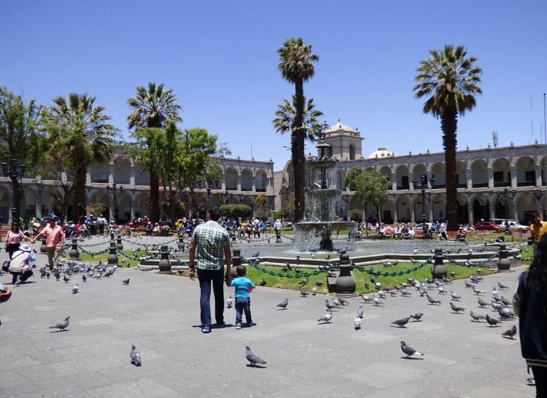 Pérou Voyage plaza de Armas Arequipa