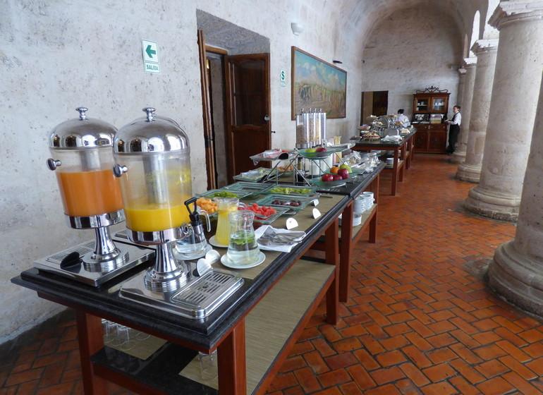 Pérou Voyage Arequipa Casa Andina Premium buffet petit déjeuner