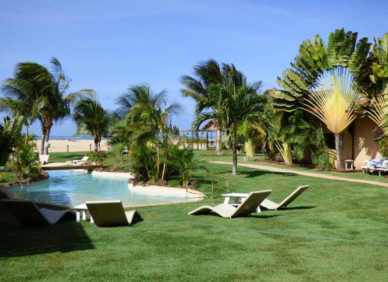 Brésil Voyage São Miguel de Gostoso Mi Secreto jardin avec piscini