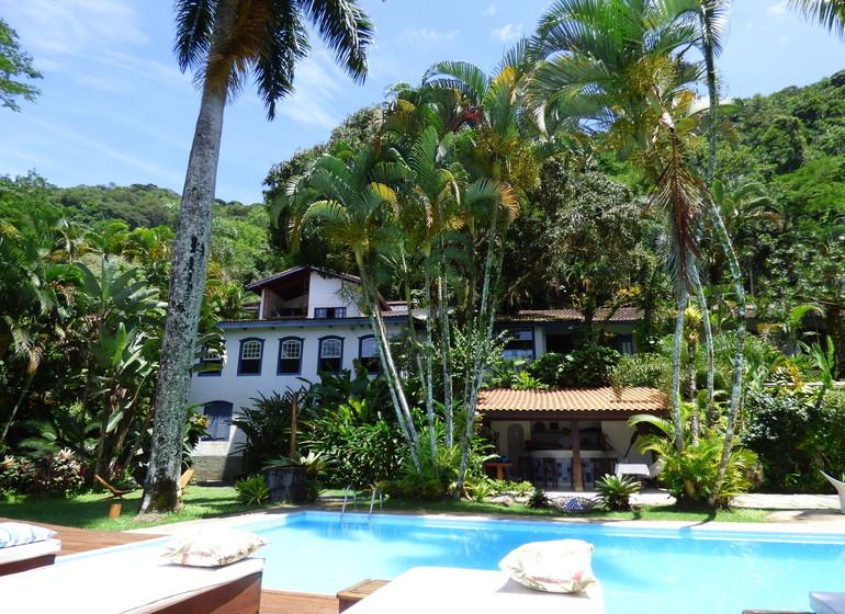 Brésil Voyage Picinguaba Pousada vue depuis la piscine