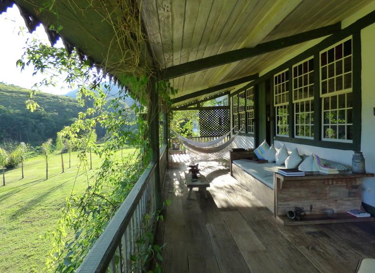 Brésil Voyage Minas Gerais Ibitipoca veranda de la fazenda