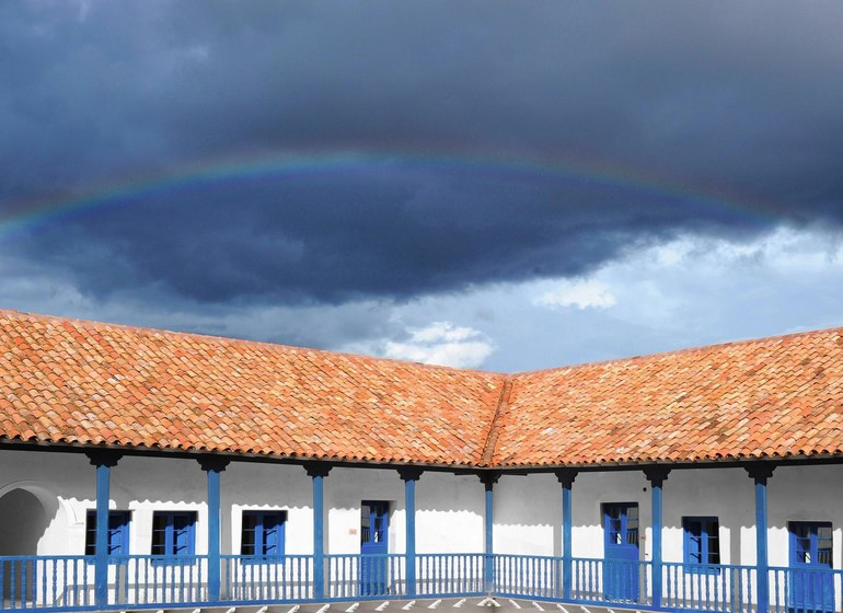 Pérou Voyage Cusco Palacio Nazarenas extérieur I