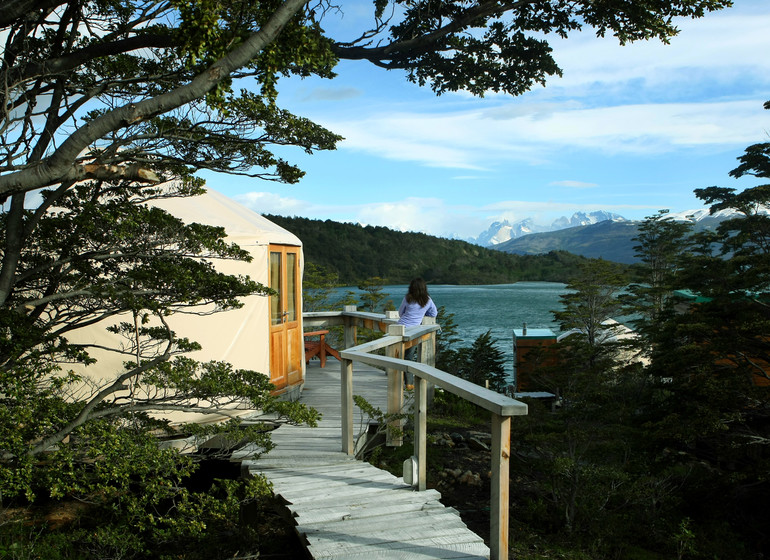 Chili Voyage Patagonia Camp accès aux yurt