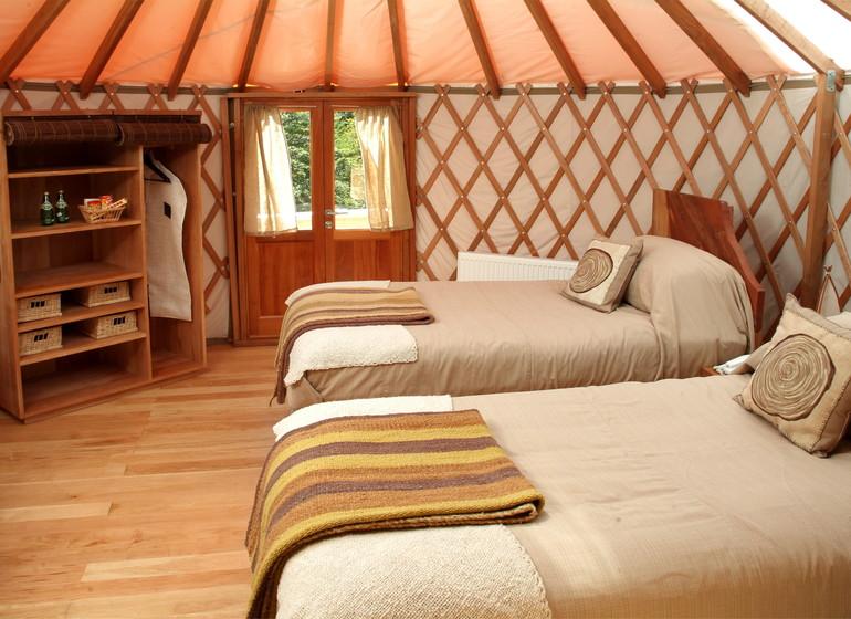 Chili Voyage Patagonia Camp yurt twin intérieur