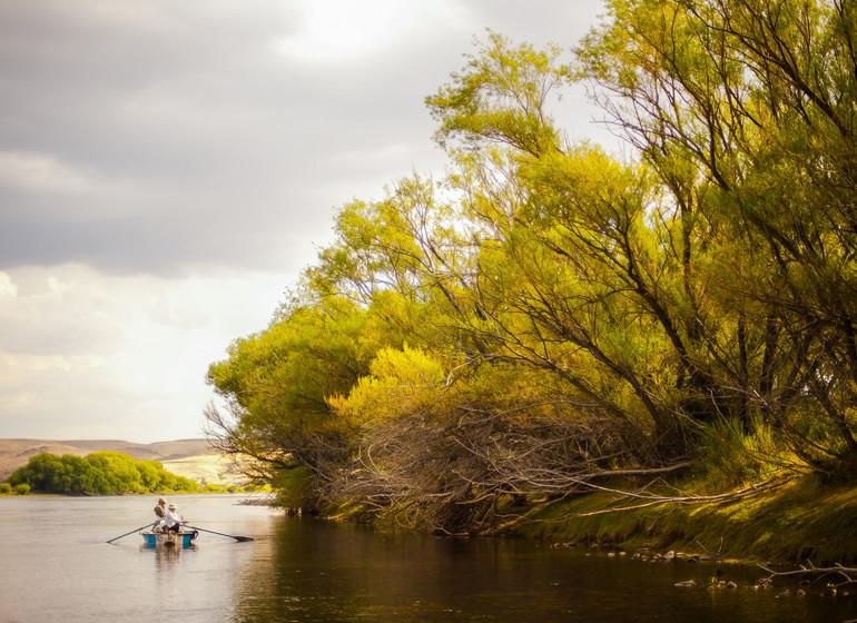 Argentine Voyage Patagonie Huechahue Ranch ambiance rivière