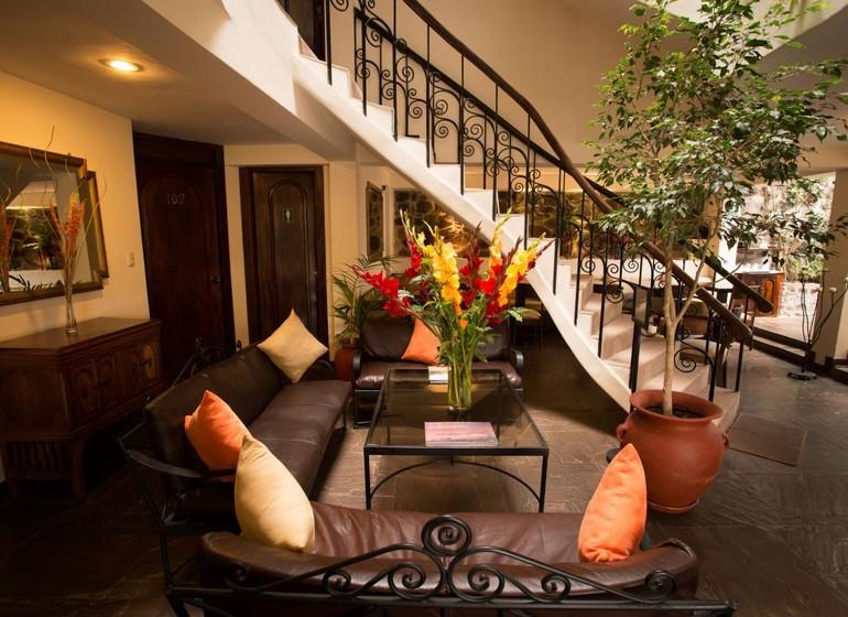 Pérou Voyage Cusco Hotel Encantada halle d'entrée séjour