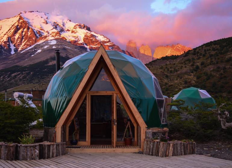 Chili Voyage Torres del Paine Ecocamp dome extérieur