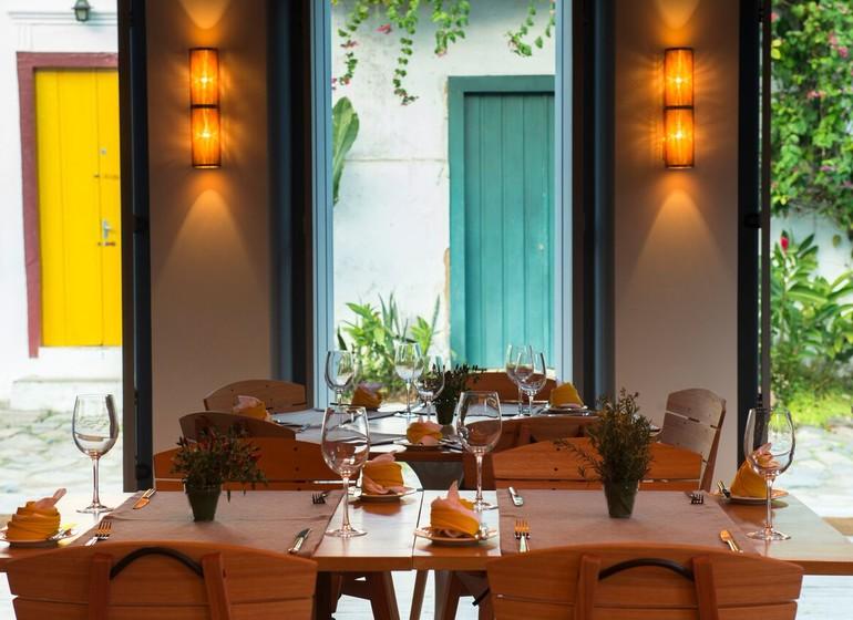 Brésil Voyage Paraty Pousada Literaria restaurant