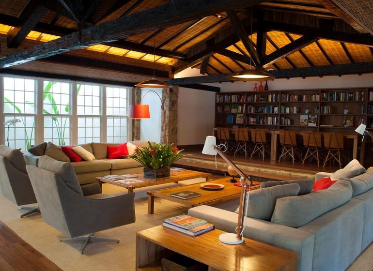 Brésil Voyage Paraty Pousada Literaria salon litérature