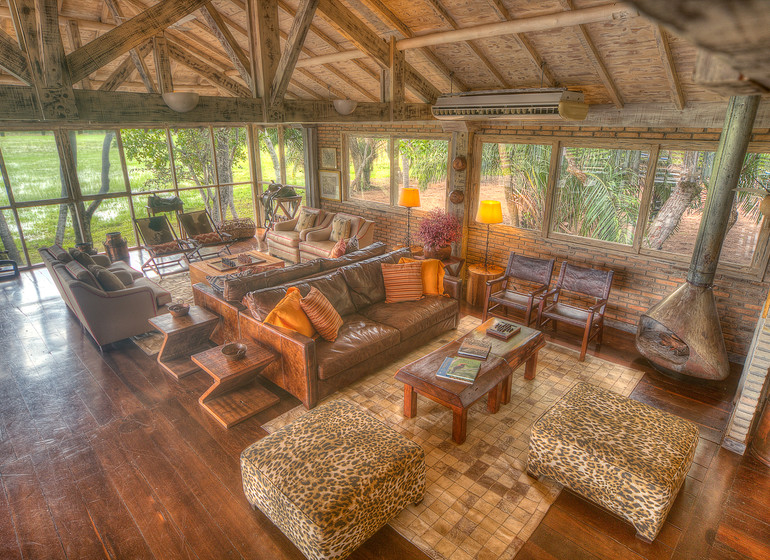 Brésil Voyage Pantanal Caiman Ecolodge Baiazinha Lodge salon