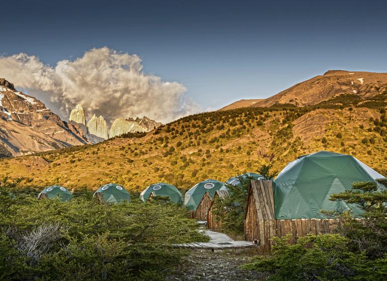 Chili Voyage Torres del Paine Ecocamp vue d'ensemble