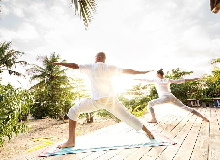 Brésil Voyage Campo Bahia Hotel cours de yoga
