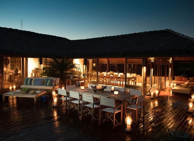 Brésil Voyage Trancoso Tutabel terrasse le soir