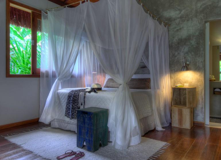 Brésil Voyage Morro do Sao Paul Vila dos Orixas bungalow intérieur